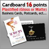16 Points Cardboard - Plastified (Gloss or Matte)